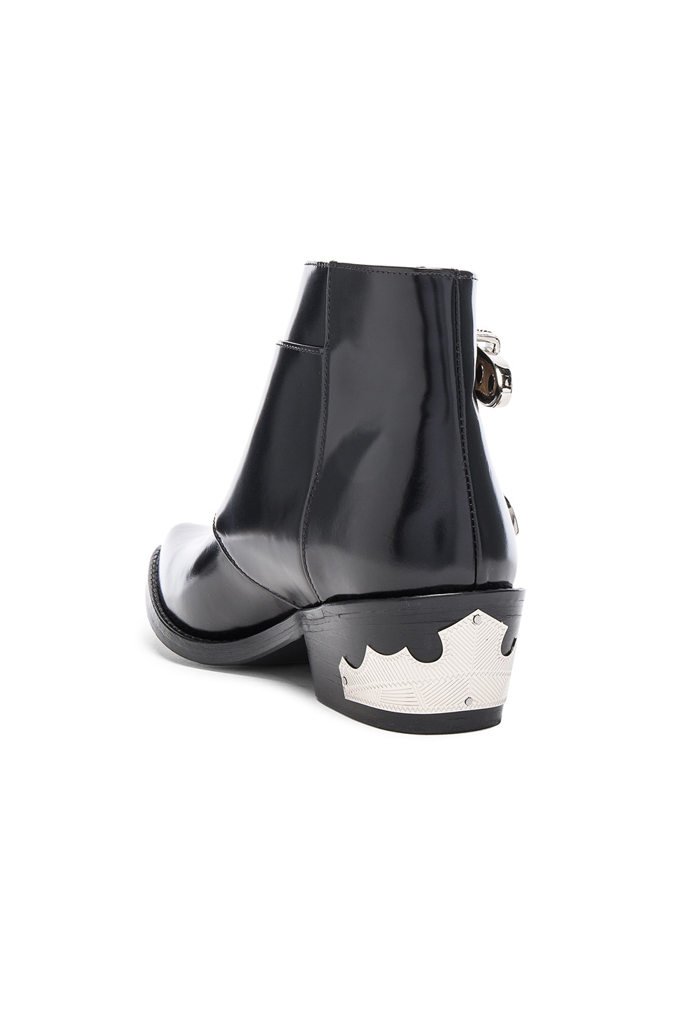 Image 3 of TOGA PULLA Polished Leather Booties in Black