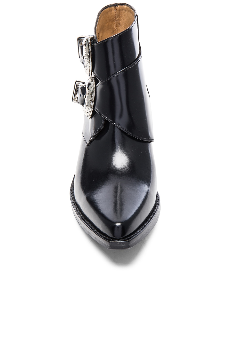 Image 4 of TOGA PULLA Polished Leather Booties in Black
