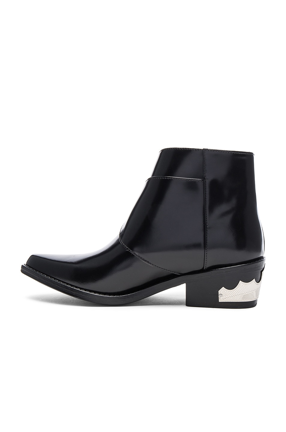 Image 5 of TOGA PULLA Polished Leather Booties in Black