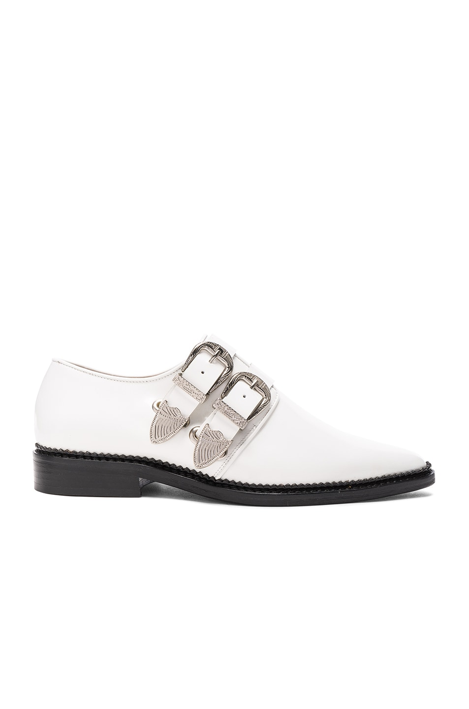 Image 1 of TOGA PULLA Leather Oxfords in White Polido