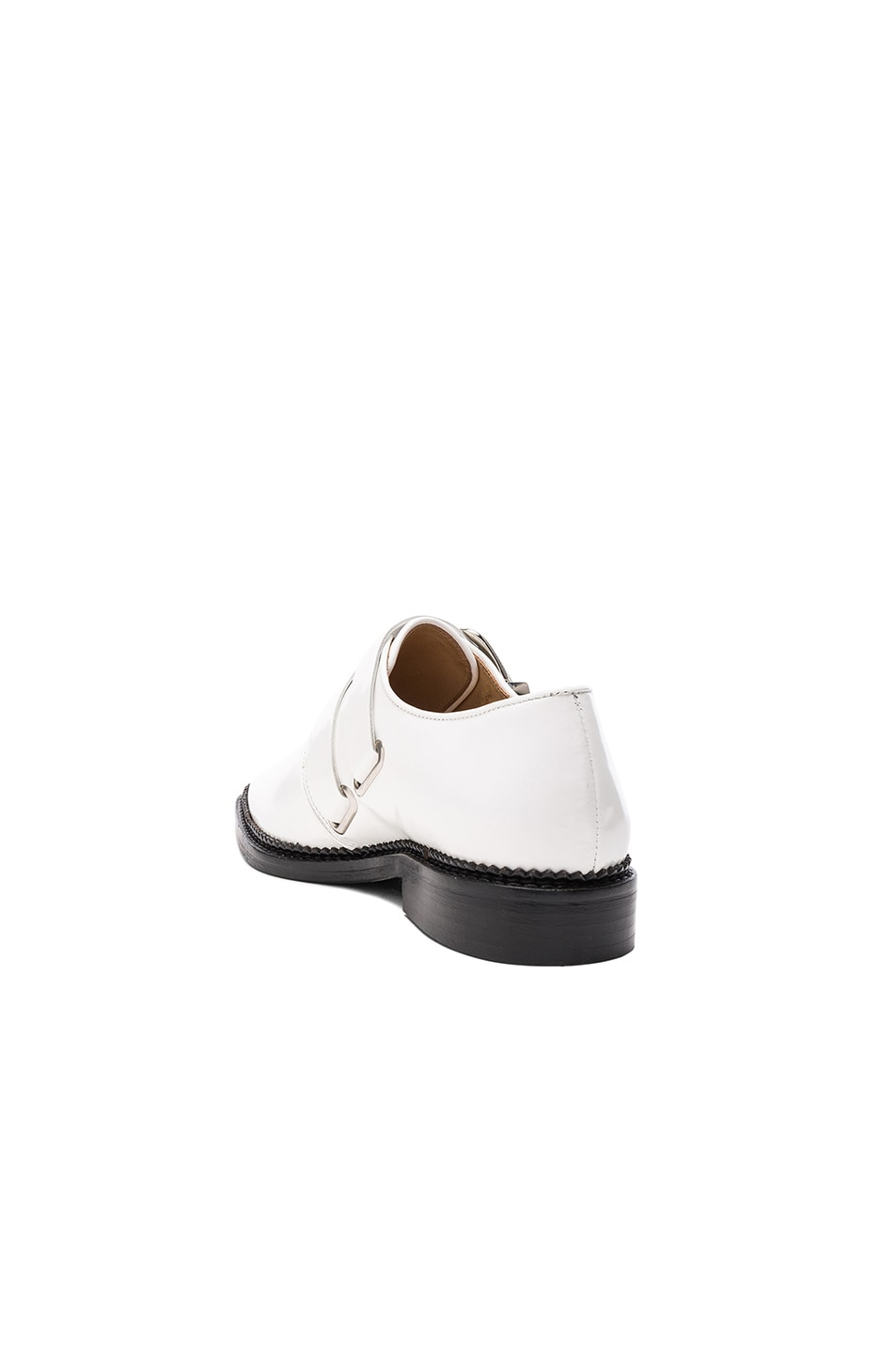 Image 3 of TOGA PULLA Leather Oxfords in White Polido