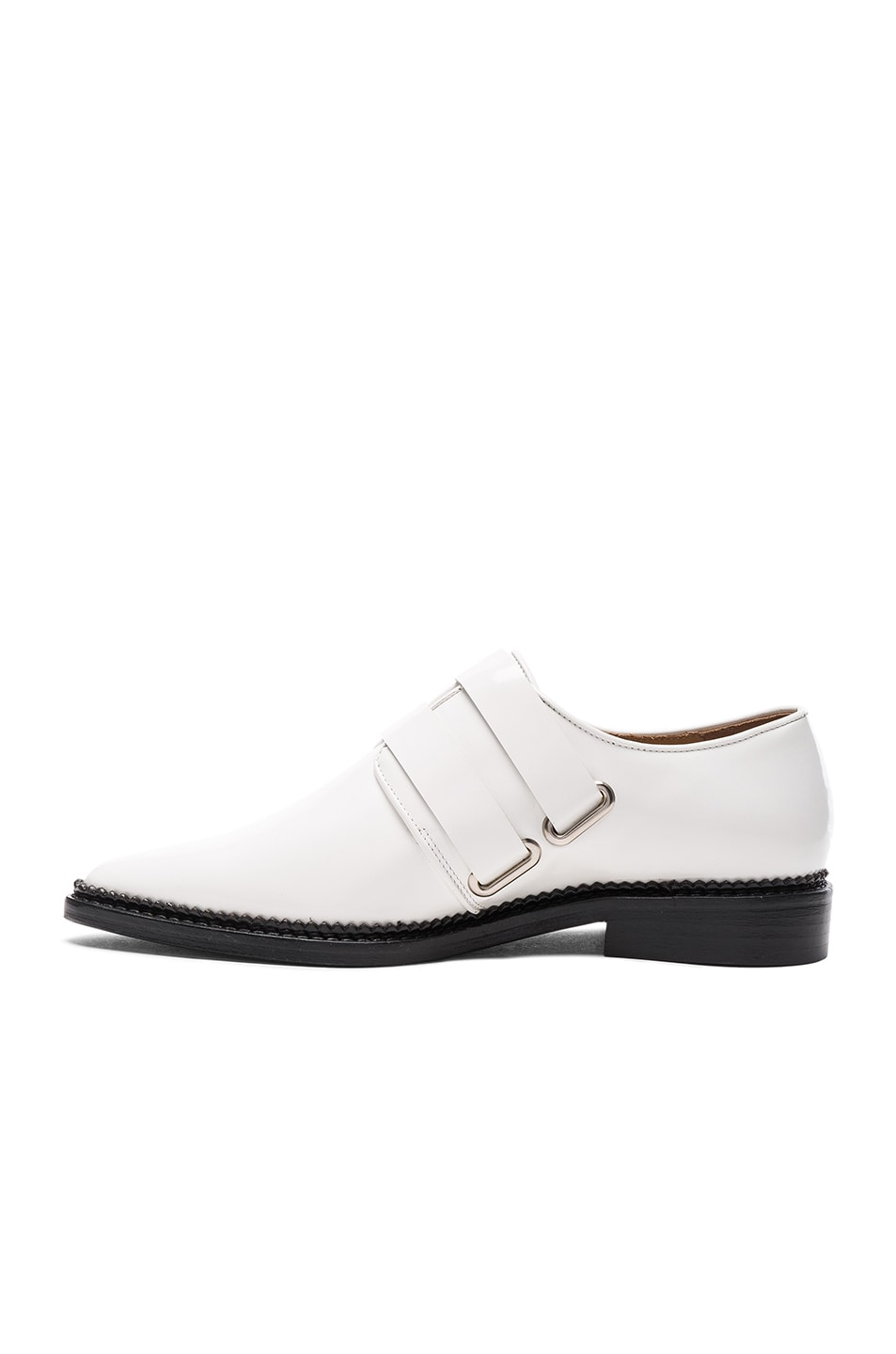 Image 5 of TOGA PULLA Leather Oxfords in White Polido