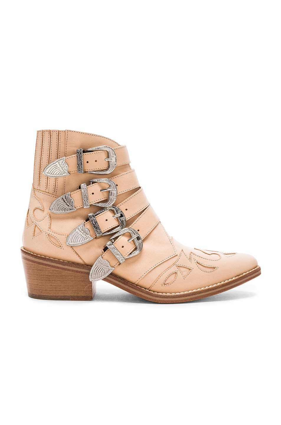 Image 1 of TOGA PULLA Leather Booties in Beige Leather