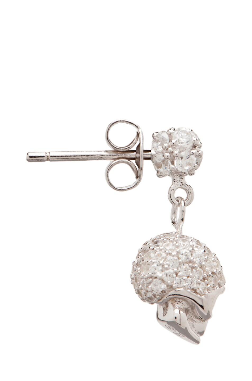 Image 2 of Tom Binns Bejeweled Charm Offensive Plated Skull Earrings