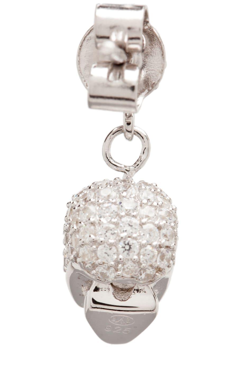 Image 3 of Tom Binns Bejeweled Charm Offensive Plated Skull Earrings