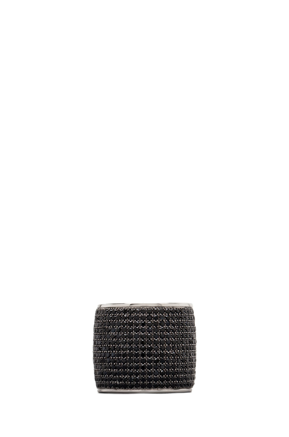 Image 1 of Tom Binns Bejeweled Plated Ring in Black