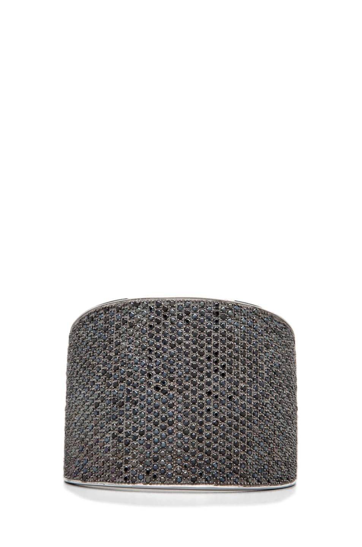 Image 1 of Tom Binns Bejeweled Plated Cuff in Black