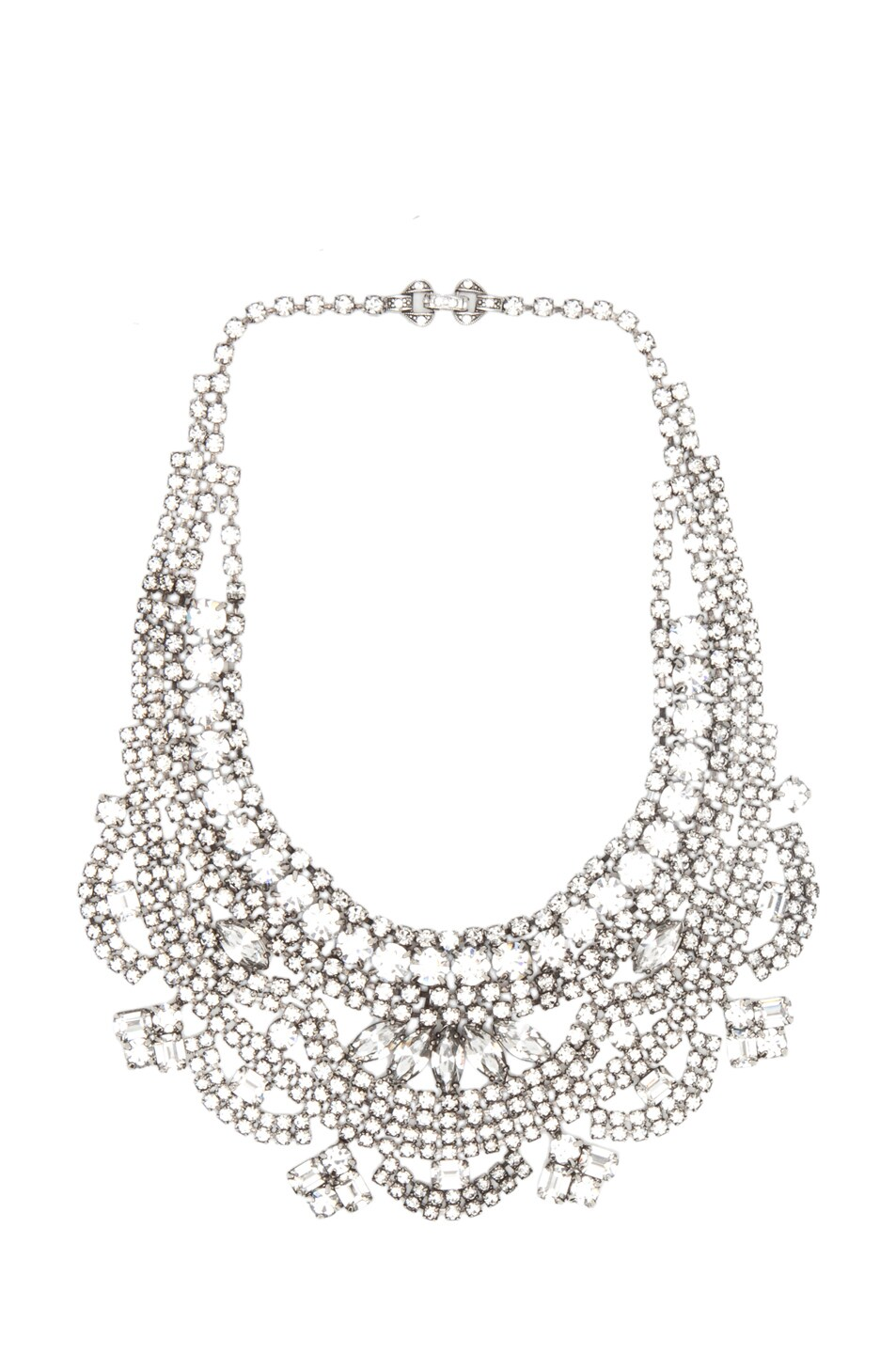 Image 1 of Tom Binns Madame Dumont Crystal Necklace in White