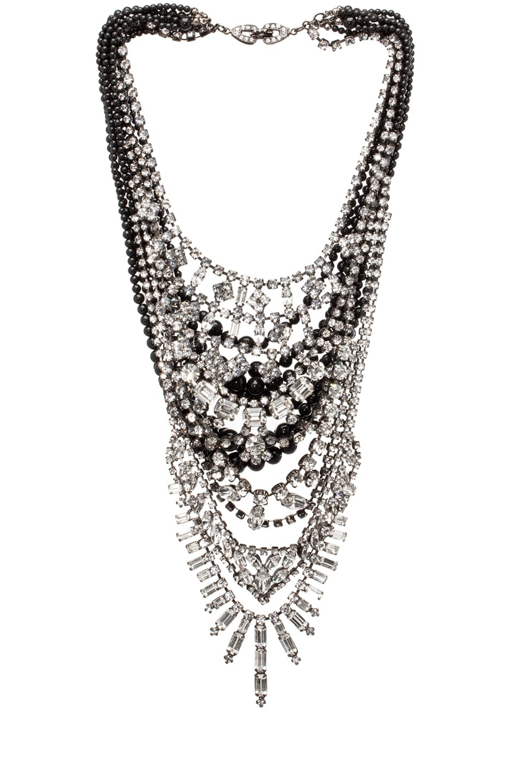 Image 1 of Tom Binns Grande Dame Necklace in Black