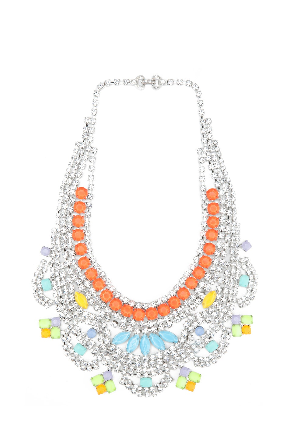 Image 1 of Tom Binns Soft Power Rhodium Plated Necklace in Pastel
