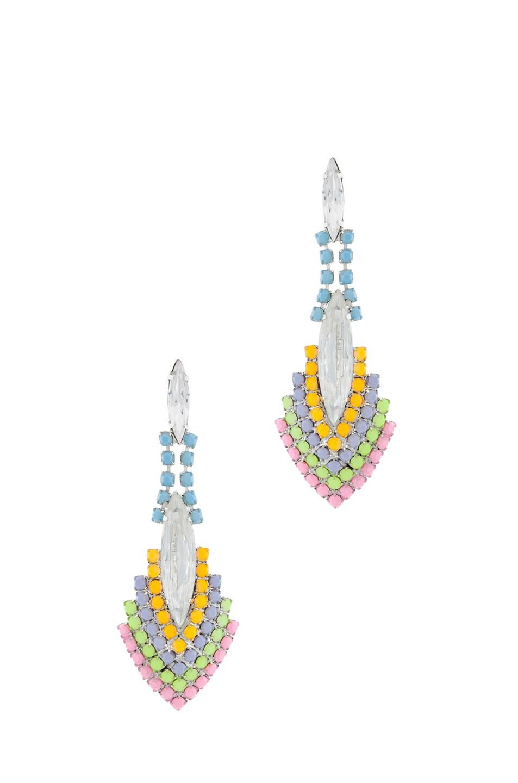 Image 1 of Tom Binns Soft Power Rhodium Plated Earring in Pastel