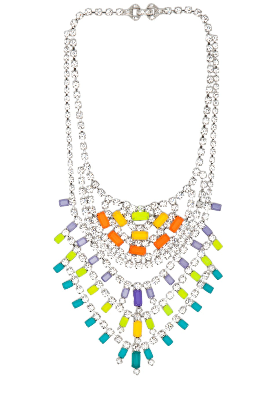 Image 1 of Tom Binns Dot Dash Tiered Necklace in Multi