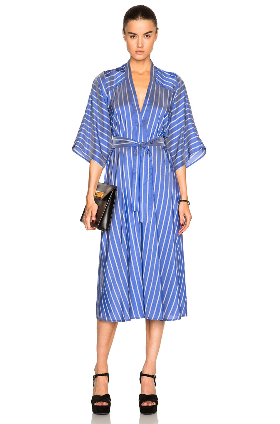 Stripe V-Neck Dress Tome Recommend Online With Paypal Sale Online Best Get To Buy For Sale NBFDicd