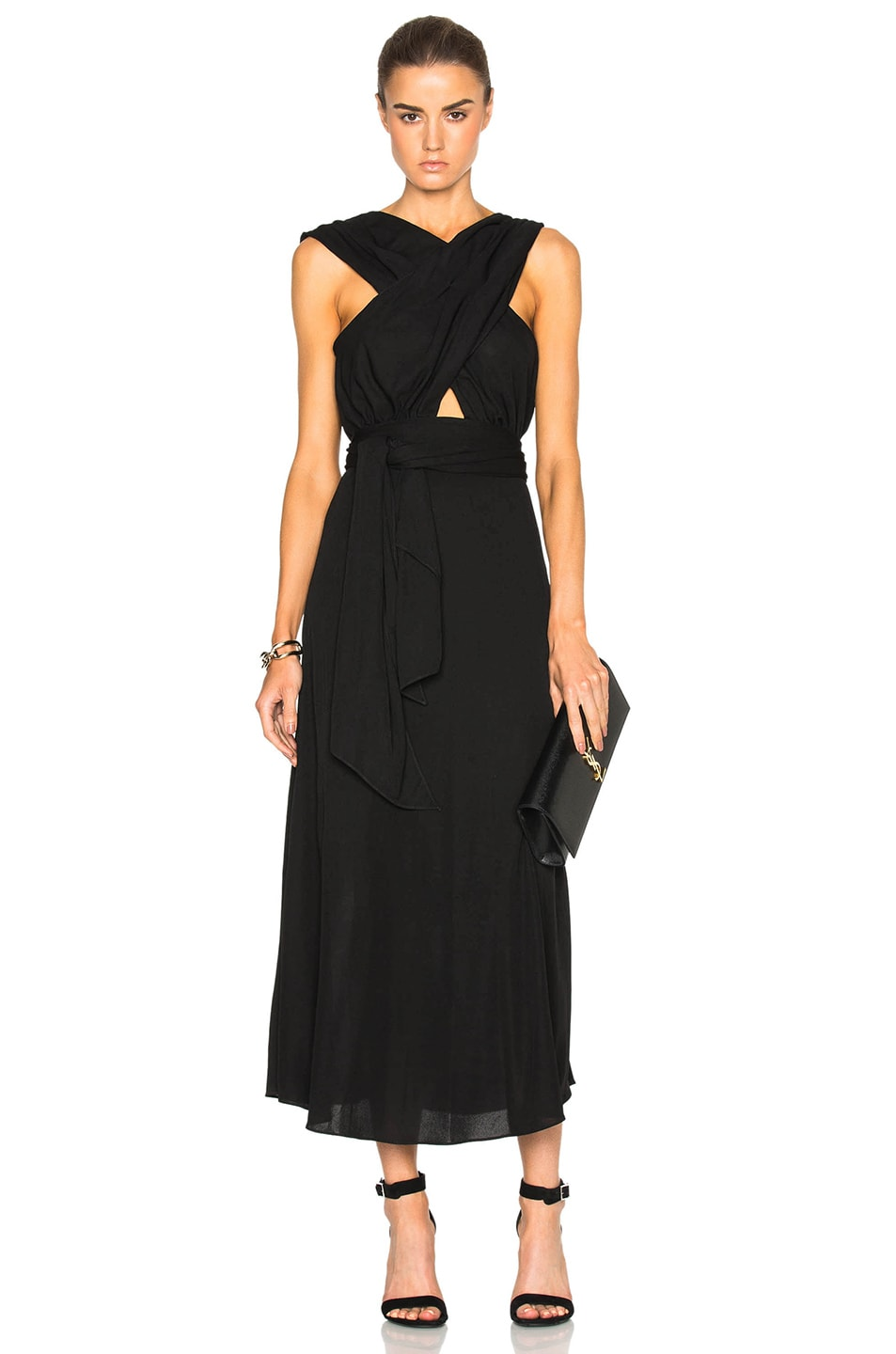 Image 1 of Tome Criss Cross Jersey Dress in Black