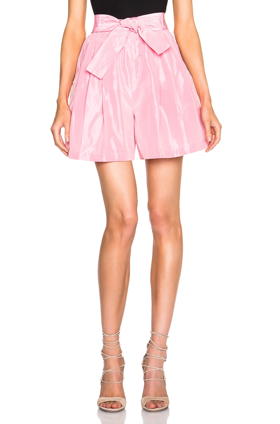 Image 1 of Tome FWRD Exclusive Taffeta Shorts in Candy Pink