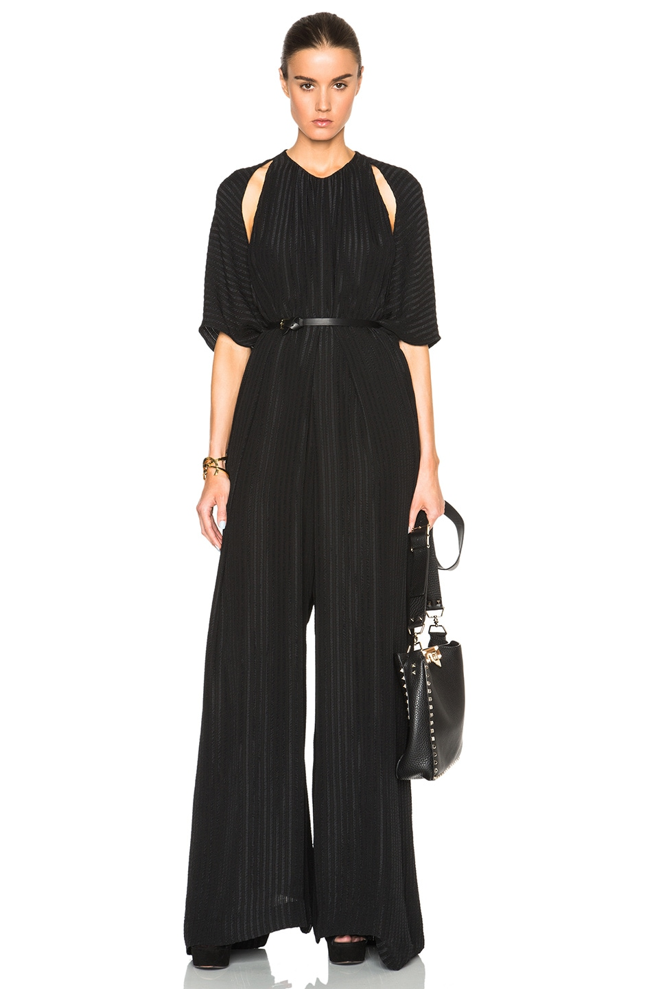 Image 1 of Tome Matelasse Oversized Jumpsuit in Black