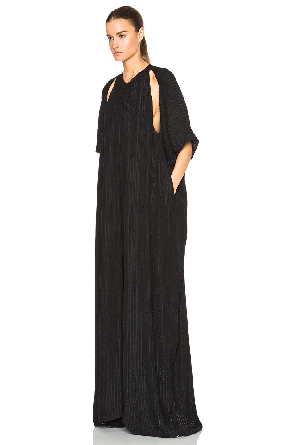 Image 2 of Tome Matelasse Oversized Jumpsuit in Black