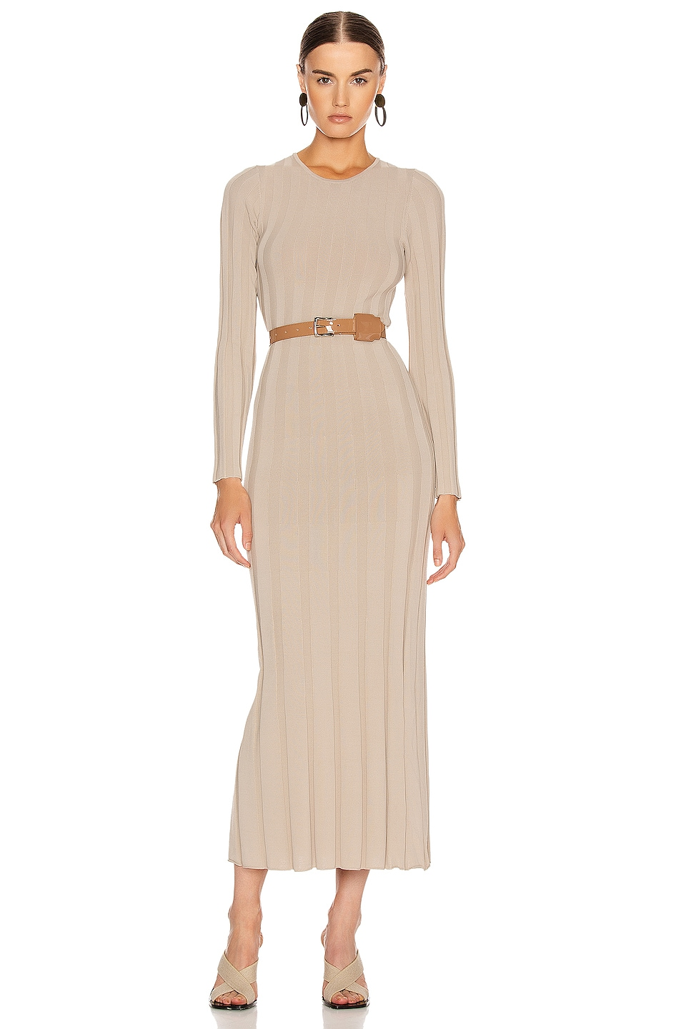 Image 1 of Toteme Bianco Dress in Sand