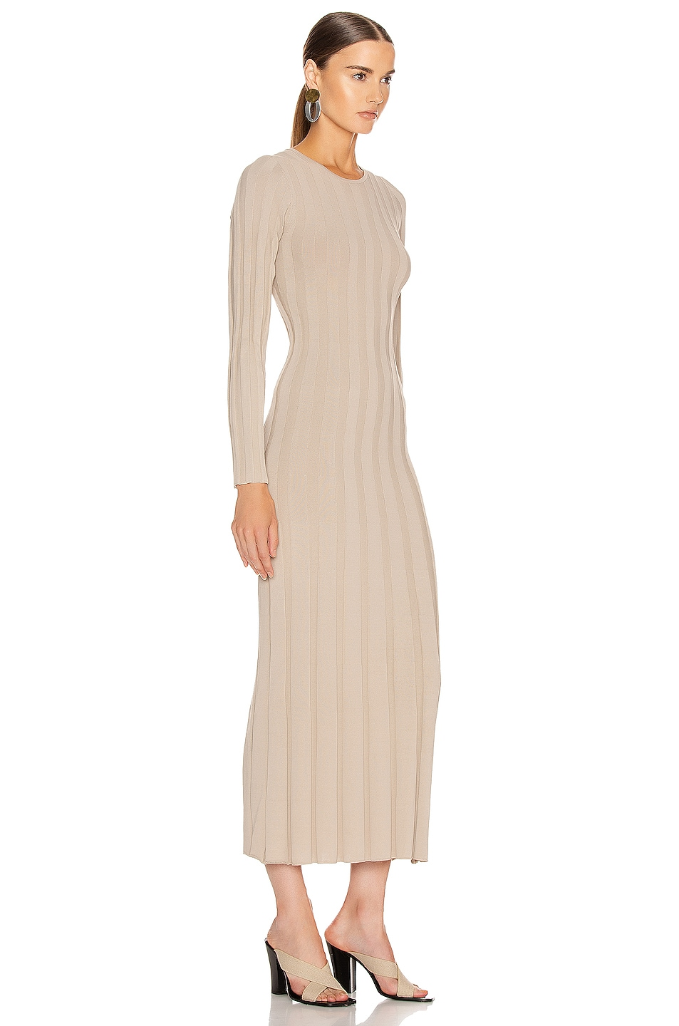 Image 2 of Toteme Bianco Dress in Sand