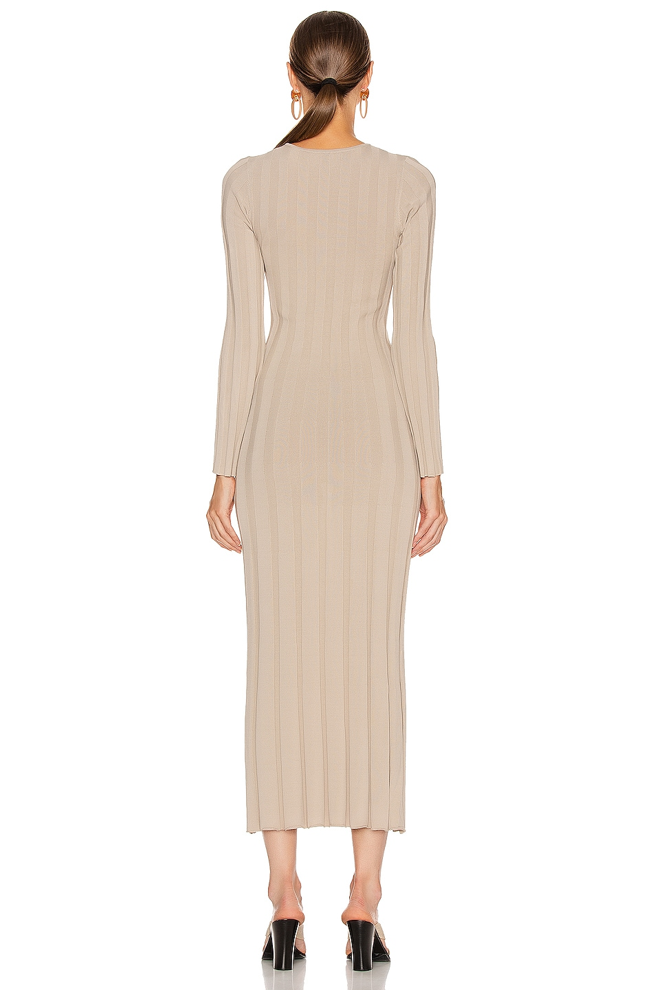 Image 3 of Toteme Bianco Dress in Sand