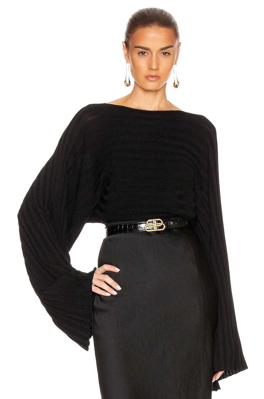 Image 1 of Toteme Maristella Top in Black