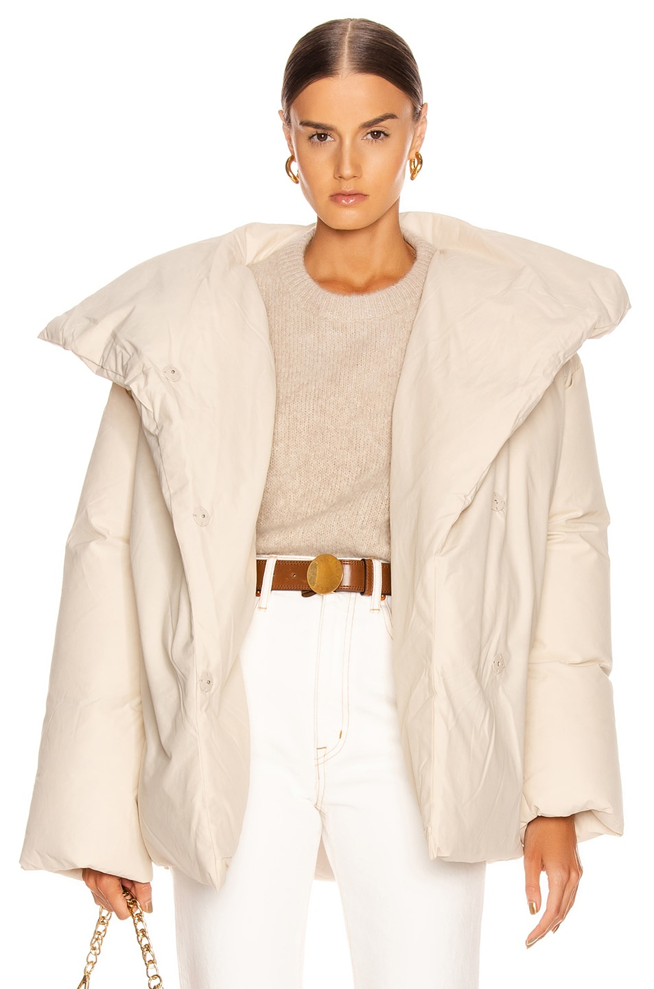 Image 1 of Toteme Annecy Down Jacket in Ivory