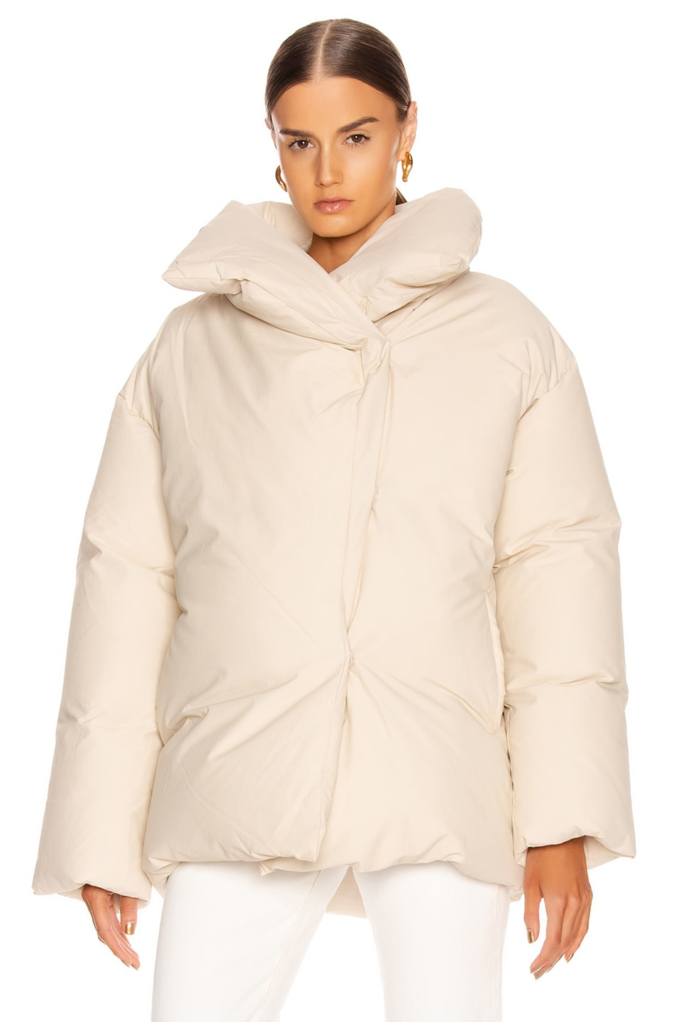 Image 2 of Toteme Annecy Down Jacket in Ivory