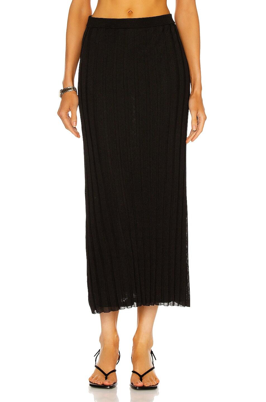 Image 1 of Toteme Rib Knit Maxi Skirt in Black