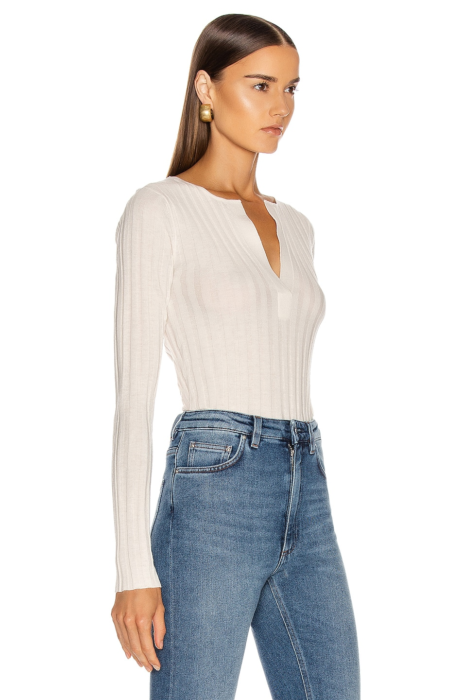 Image 2 of Toteme Avresa Top in Off White