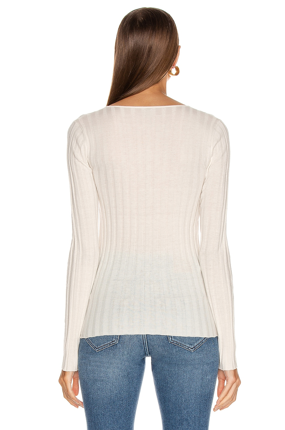 Image 3 of Toteme Avresa Top in Off White