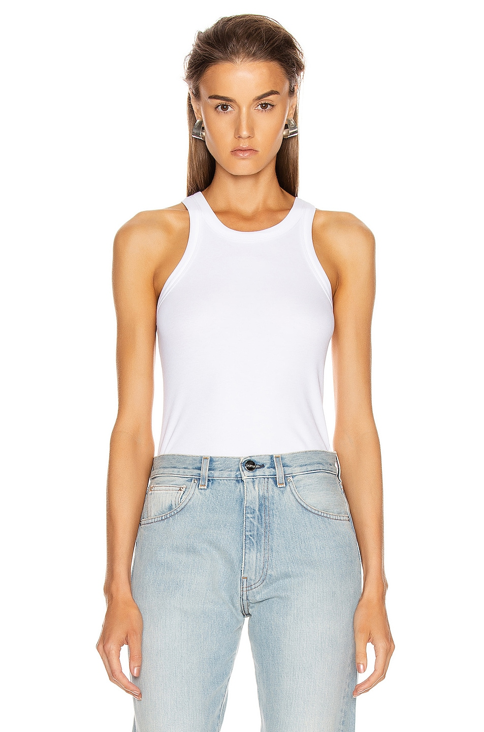 Image 1 of Toteme Espera Rib Tank in White