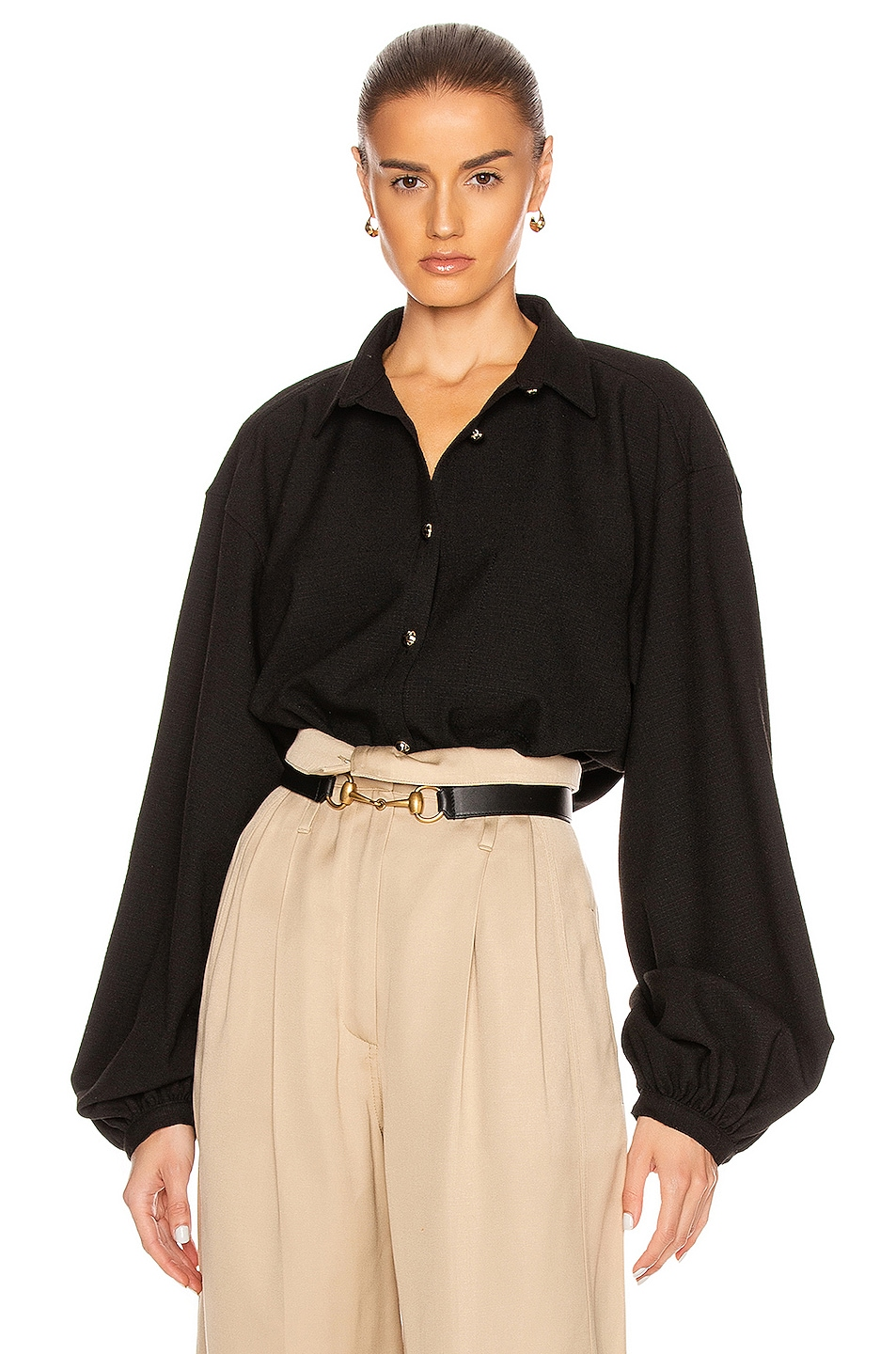 Image 1 of Toteme Novale Blouse in Black