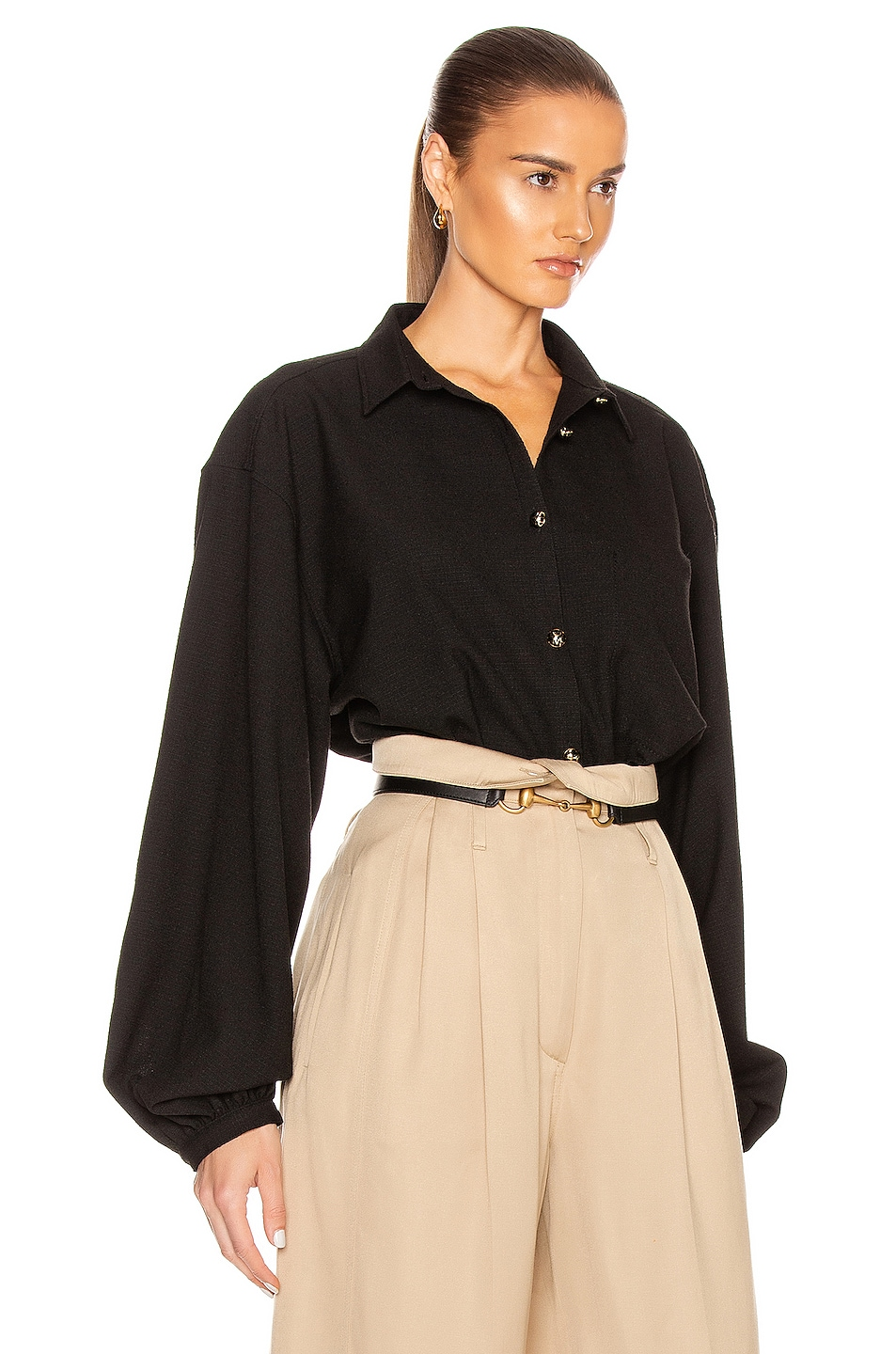 Image 2 of Toteme Novale Blouse in Black