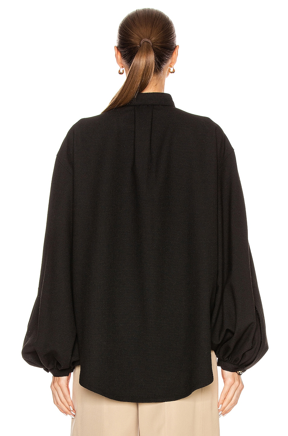 Image 3 of Toteme Novale Blouse in Black