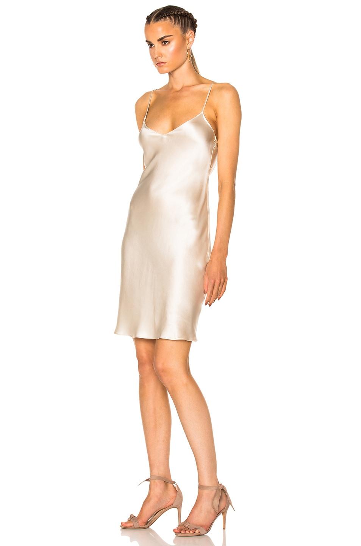 Image 2 of ThePerfext for FWRD Alessandra Short Slip Dress in Cream