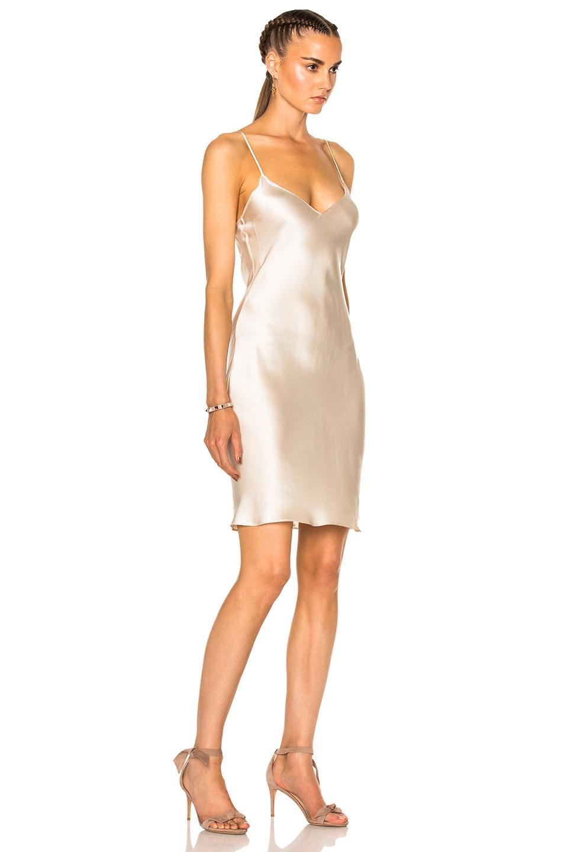 Image 3 of ThePerfext for FWRD Alessandra Short Slip Dress in Cream