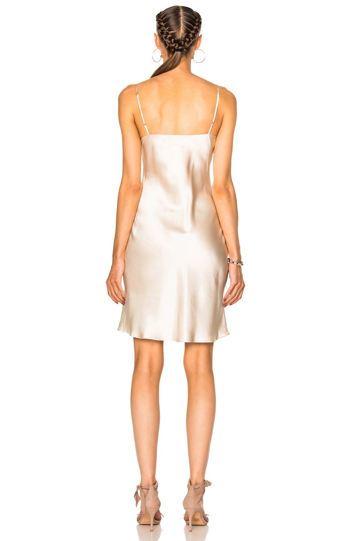 Image 4 of ThePerfext for FWRD Alessandra Short Slip Dress in Cream