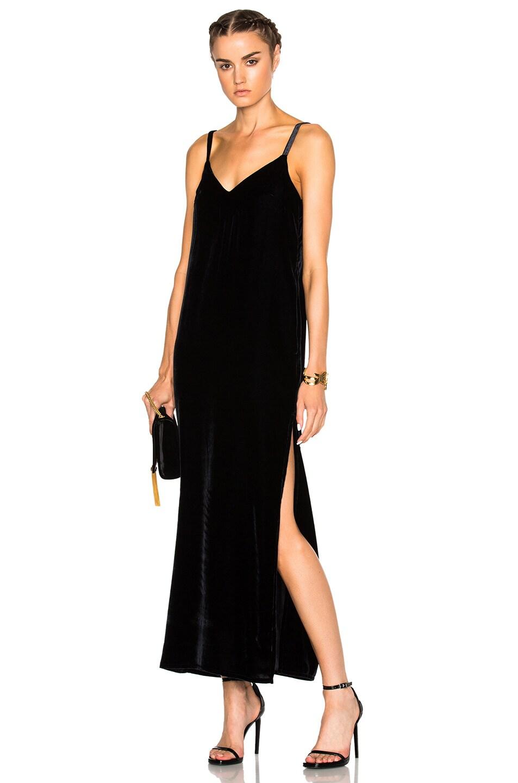 ThePerfext Camilla Velvet Slip Dress in Navy   FWRD