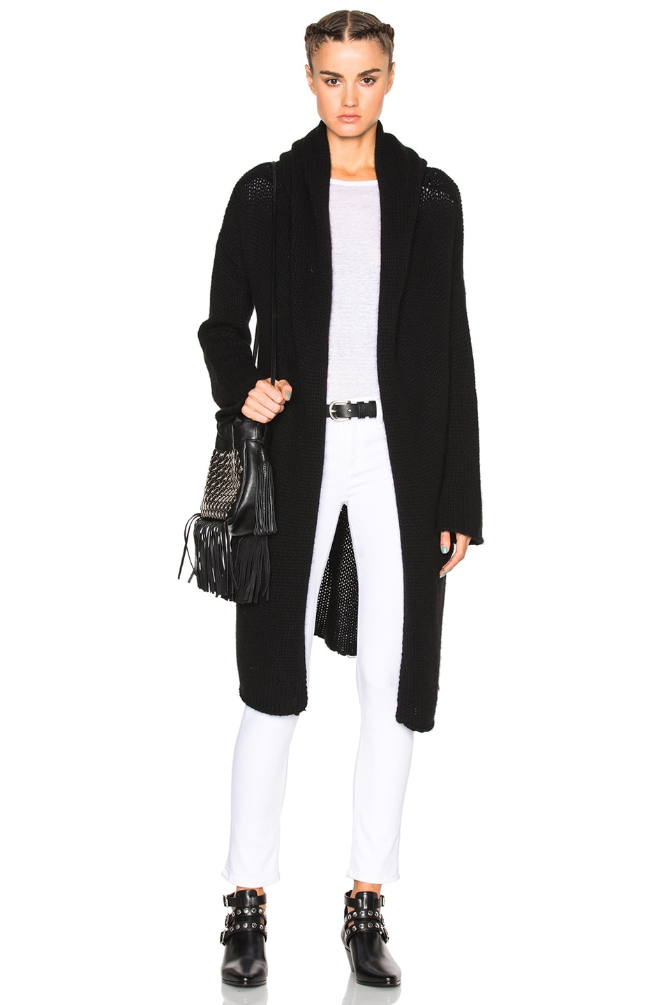 Image 1 of ThePerfext Collette Cozy Long Sweater in Black