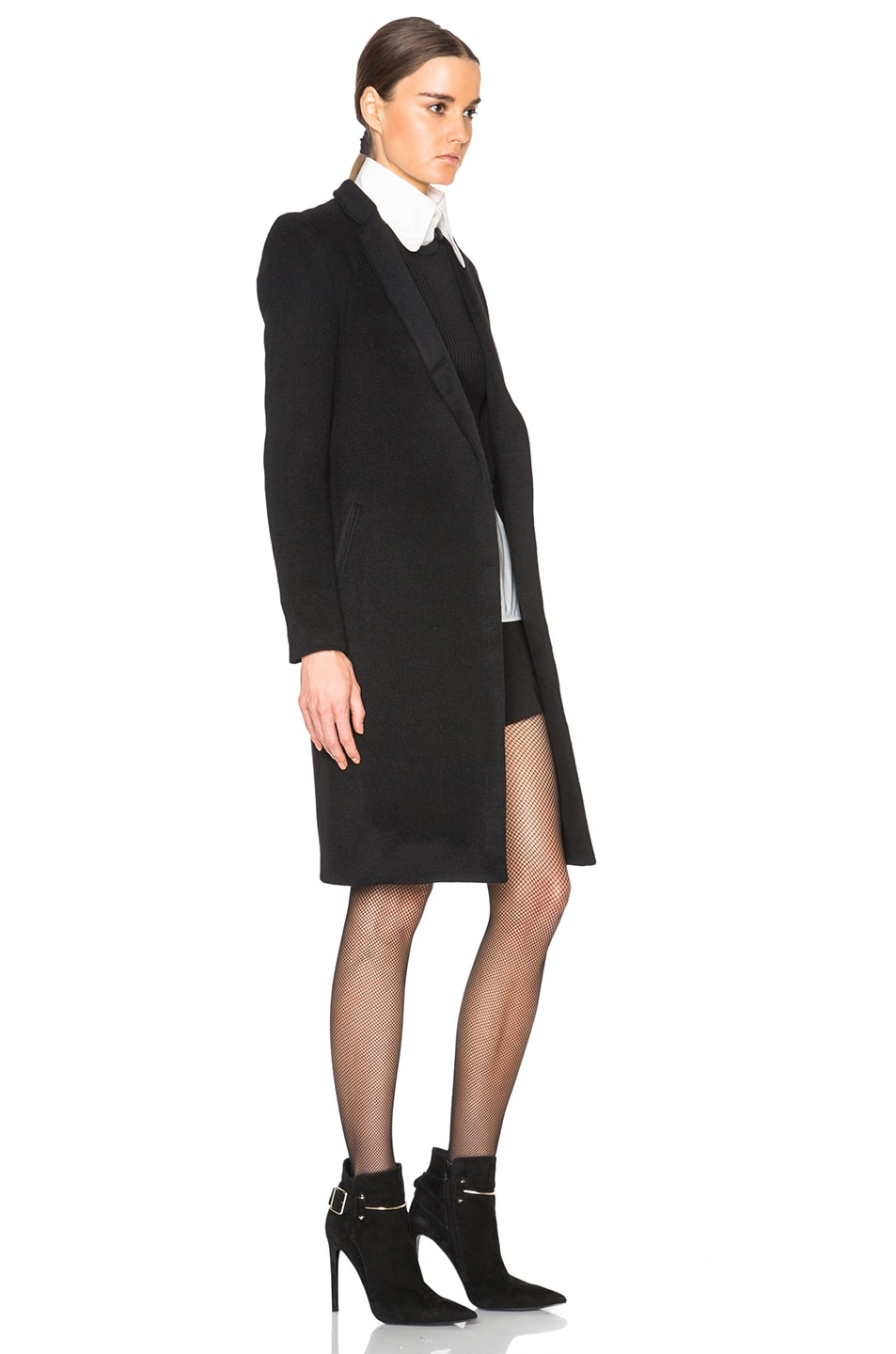 Image 3 of ThePerfext Manhattan Coat in Black