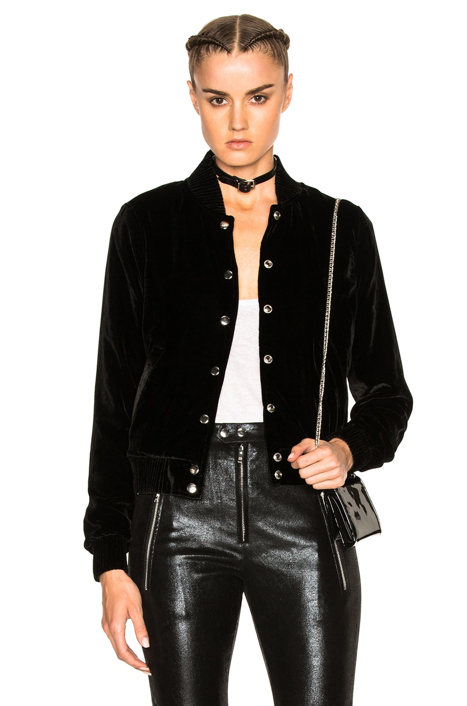 Image 1 of ThePerfext Ashley Bomber Jacket in Black