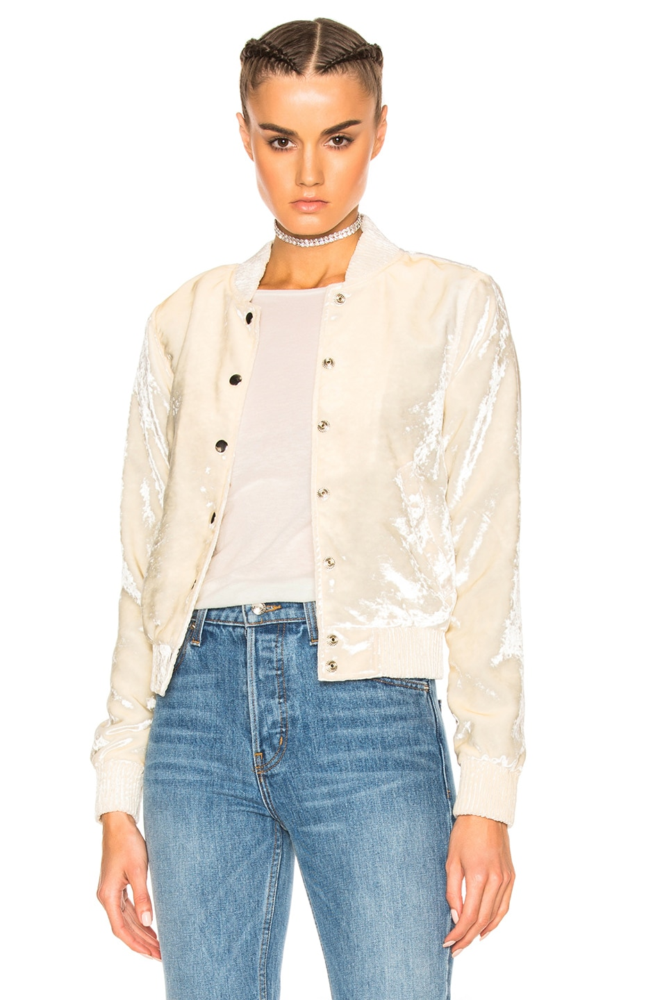Image 1 of ThePerfext for FWRD Ashley Bomber Jacket in White
