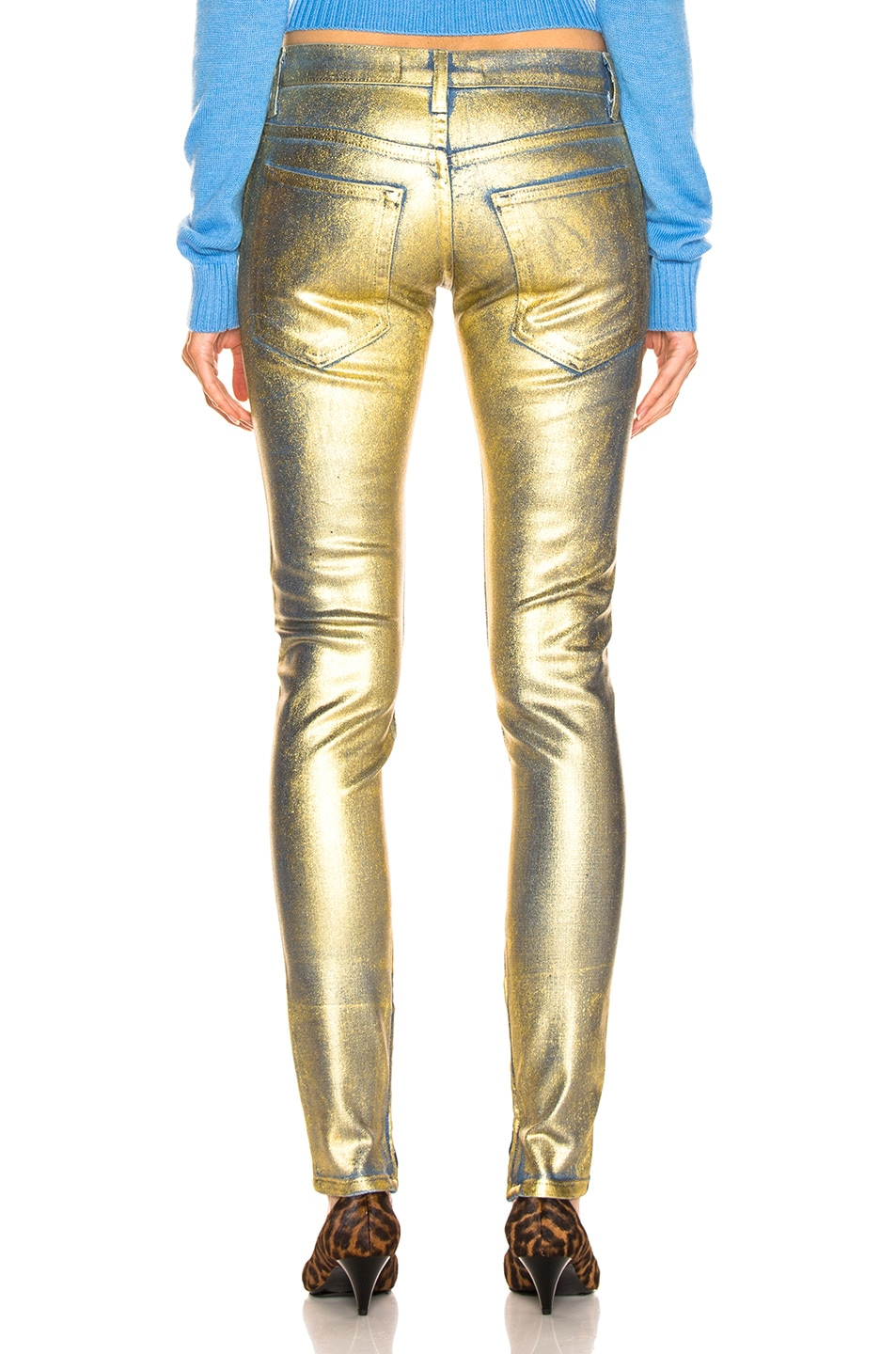 Image 3 of TRE by Natalie Ratabesi Gold Edith Pants in Gold