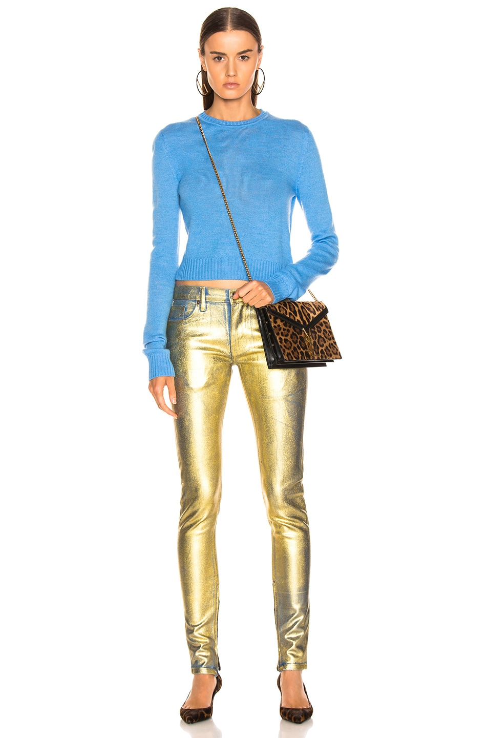 Image 4 of TRE by Natalie Ratabesi Gold Edith Pants in Gold
