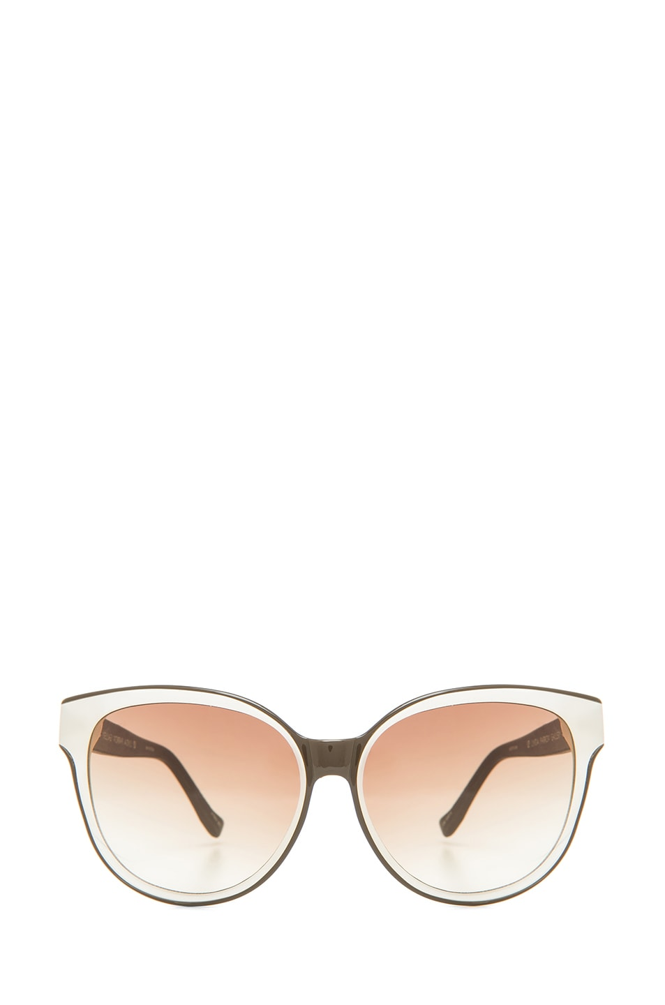 Image 1 of The Row Oversized Sunglasses in Iron & Blush