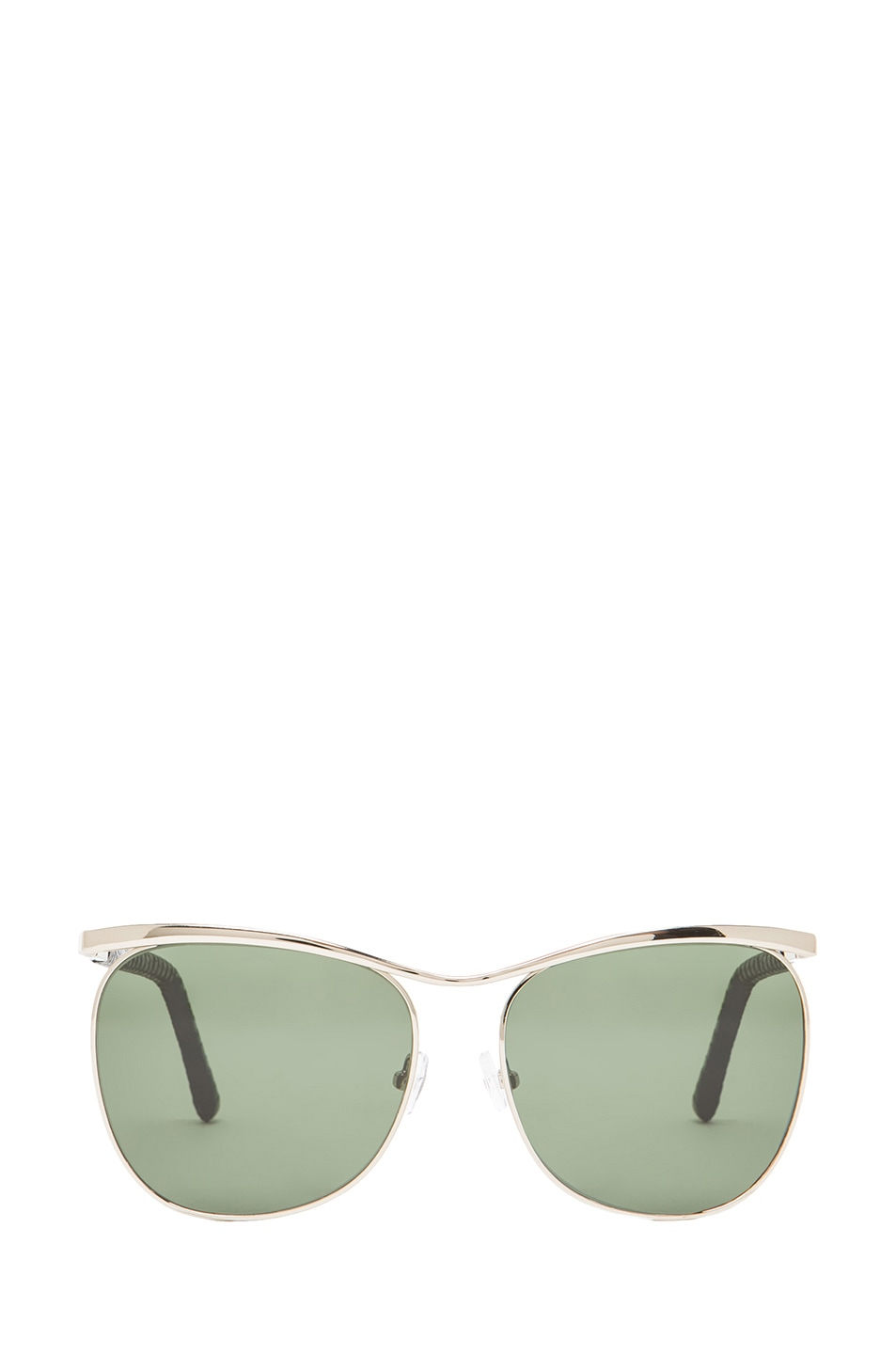 Image 1 of The Row Aviator Sunglasses in Silver & Black