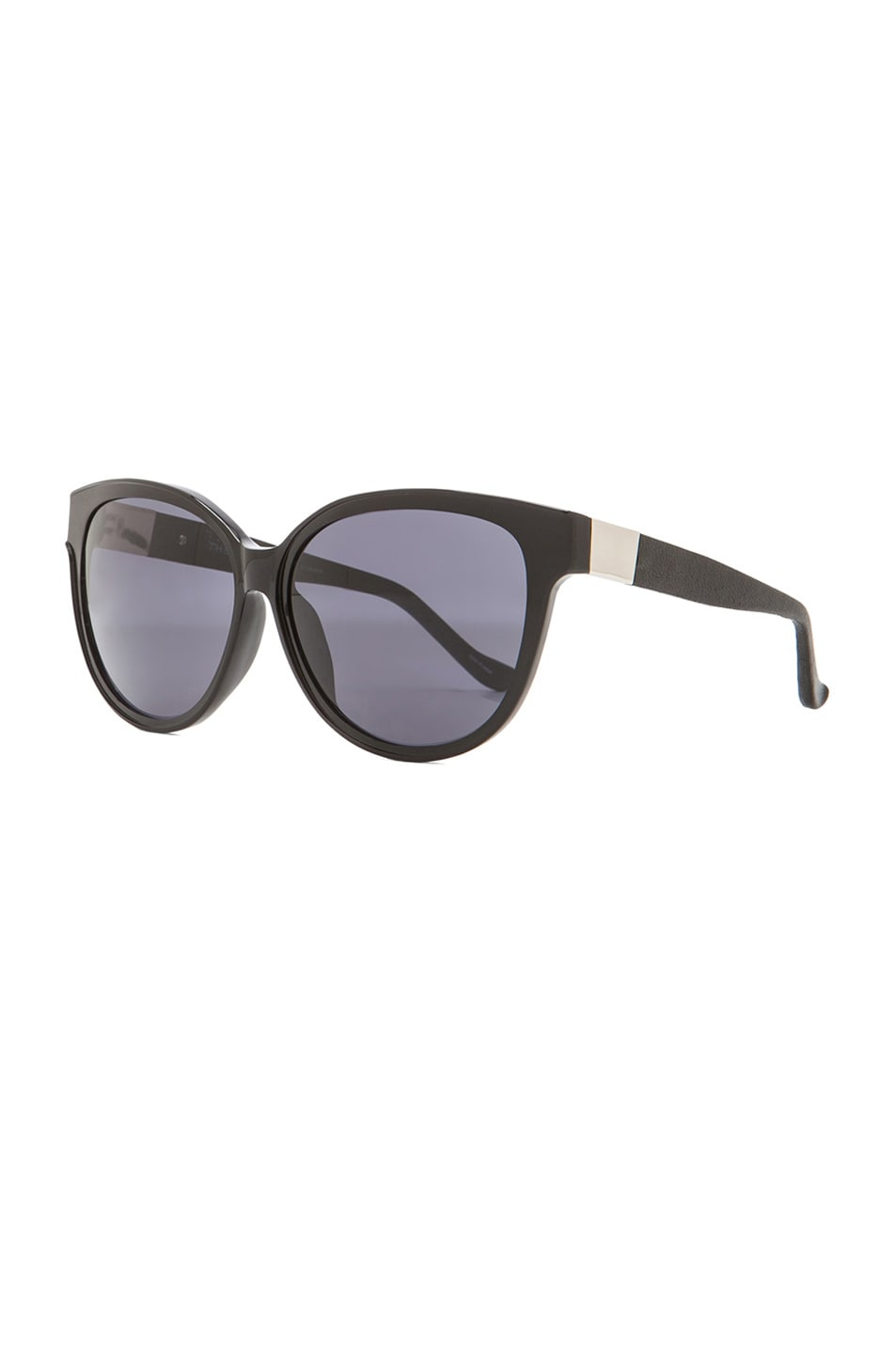 Image 2 of The Row Cat Eye Sunglasses in Black