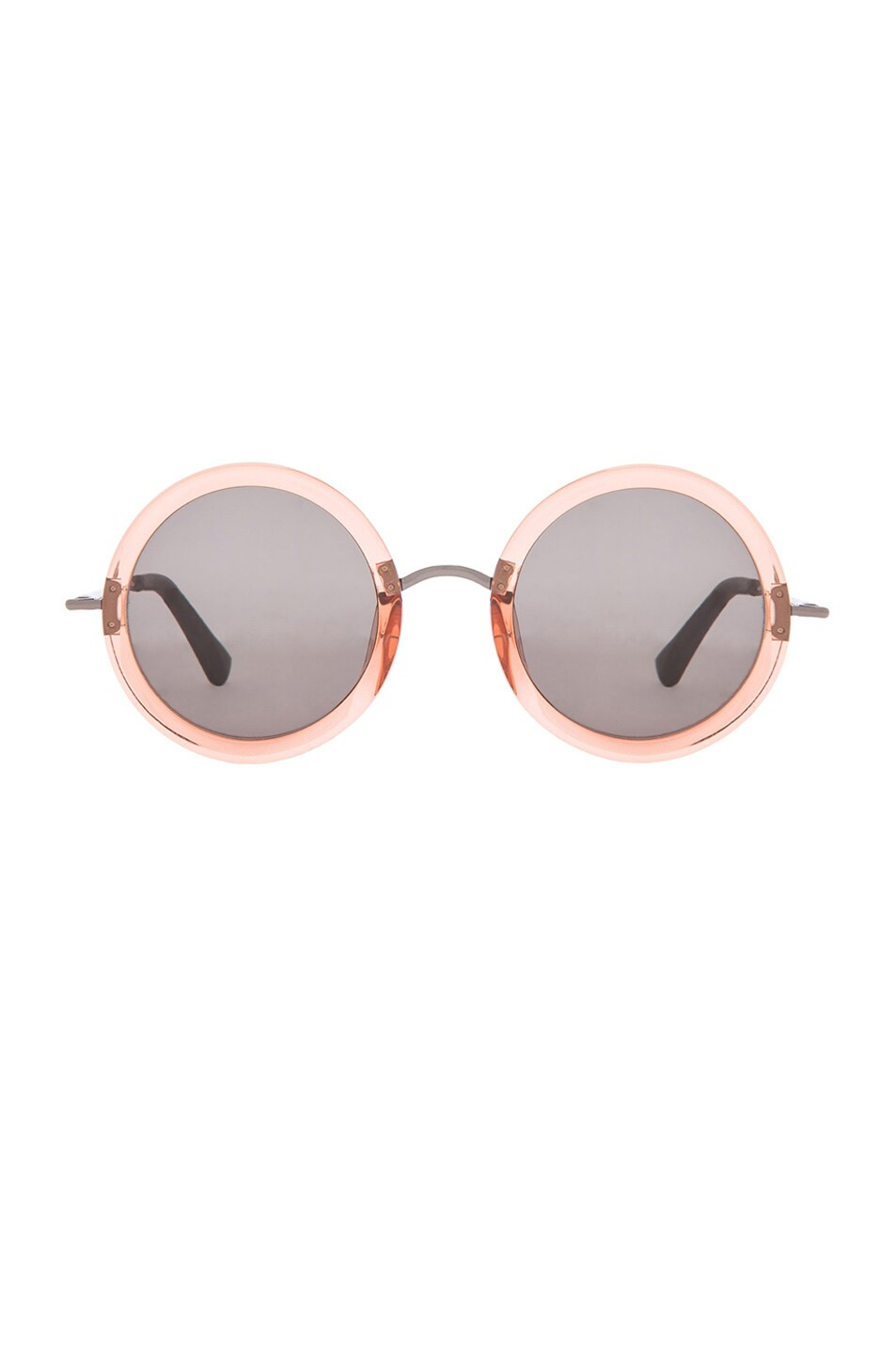 Image 1 of The Row Signature Circle Sunglasses in Rose