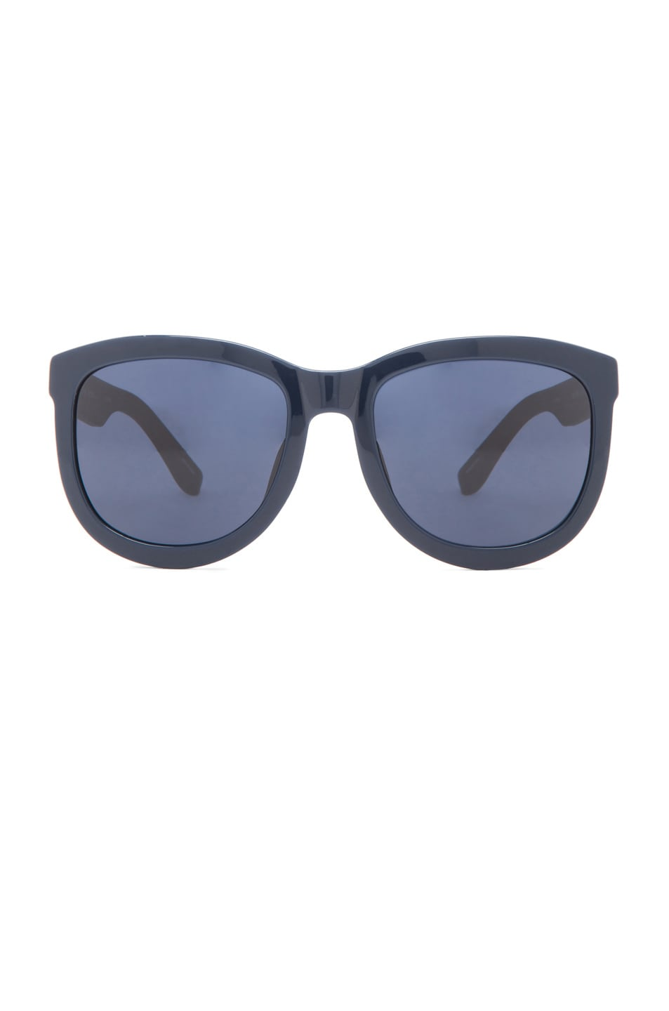 Image 1 of The Row Rounded Wayfarer Sunglasses in Dark Navy