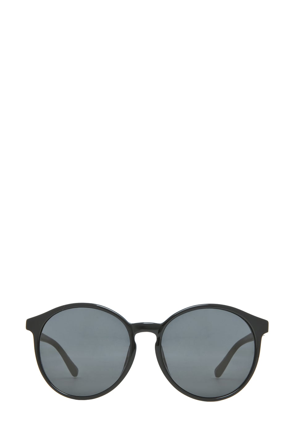 Image 1 of The Row Classic Keyholde Round Sunglasses in Black
